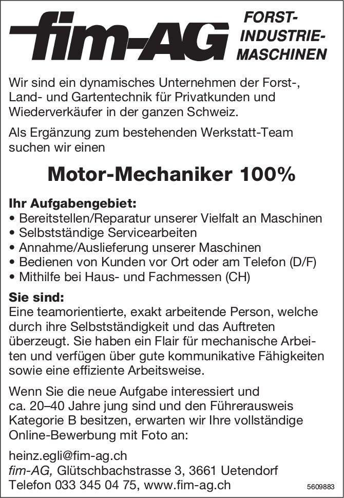 Motor-Mechaniker, fim-AG, Uetendorf, gesucht