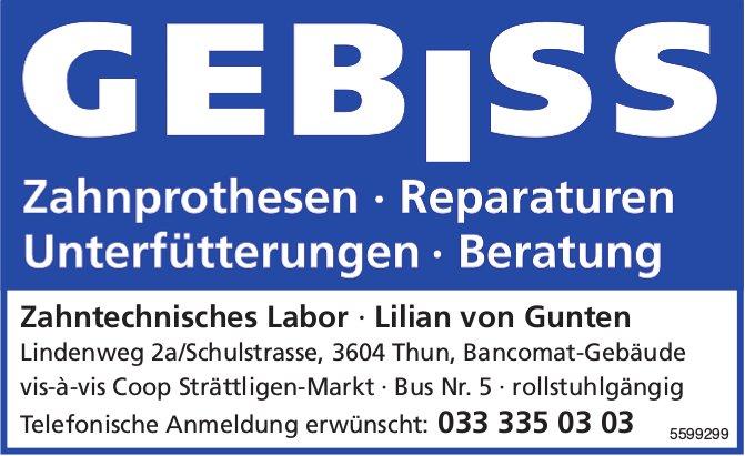 Zahntechnisches Labor Lilian von Gunten, Thun - Zahnprothesen, Reparaturen