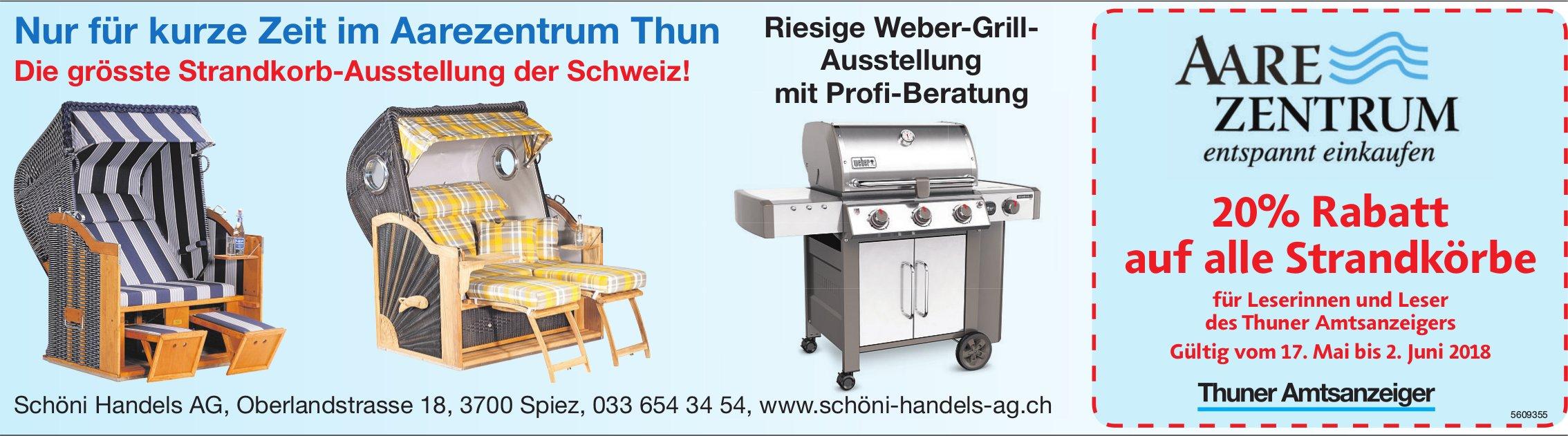 Nur für kurze Zeit im Aarezentrum Thun: Die grösste Strandkorb-Ausstellung der Schweiz!