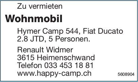 Wohnmobil Hymer Camp 544, Fiat Ducato zu vermieten