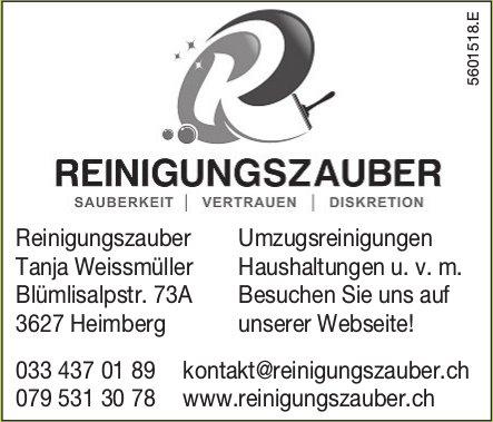 Reinigungszauber Tanja Weissmüller - Umzugsreinigungen, Haushaltungen u. v. m.
