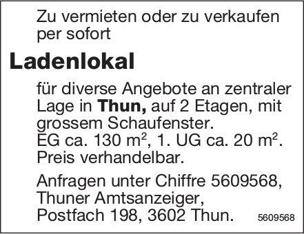 Ladenlokal in Thun zu vermieten oder zu verkaufen