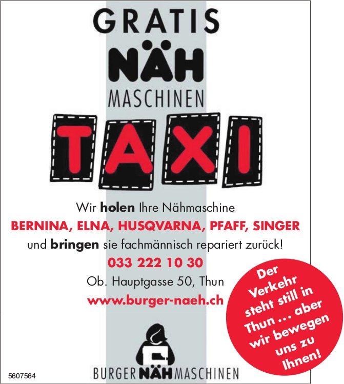 Burger Näh Maschinen - Gratis Näh Maschinen Taxi