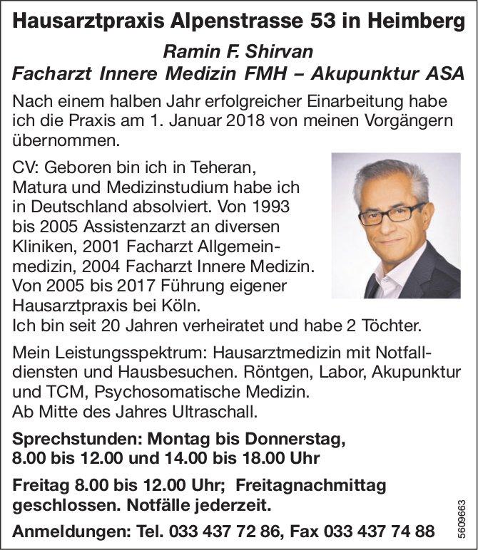 Übernahme Hausarztpraxis Alpenstrasse 53 in Heimberg