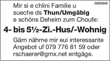 Sueche 4- bis 5½-Zi.-Hus/-Wohnig ds Thun/Umgäbig