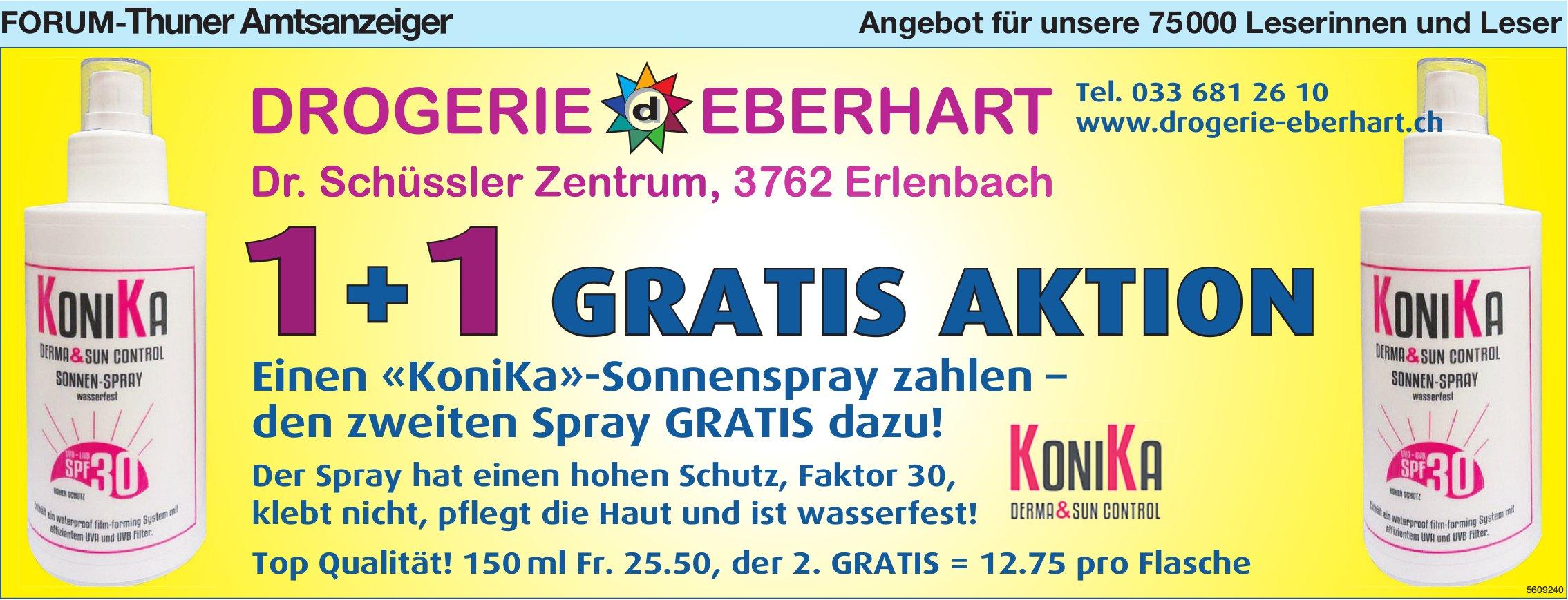 Forum-Thuner Amtsanzeiger - Drogerie Eberhart: 1 «KoniKa»-Sonnenspray zahlen den  2. Spray GRATIS
