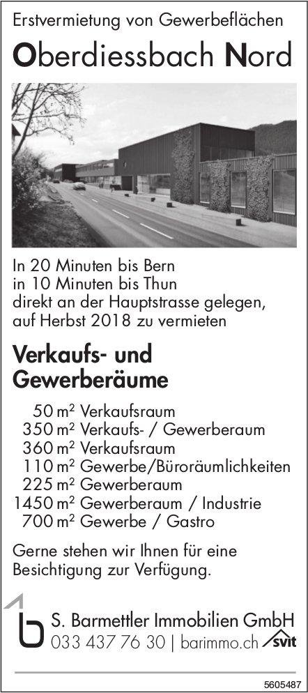 Erstvermietung von Gewerbeflächen in Oberdiessbach Nord
