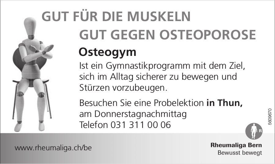 Rheumaliga Bern - Osteogym: Besuchen Sie eine Probelektion in Thun