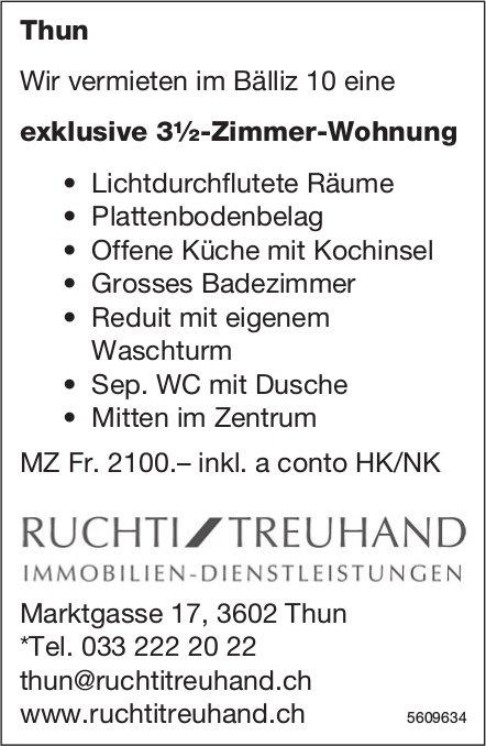 Exklusive 3½-Zimmer-Wohnung in Thun zu vermieten