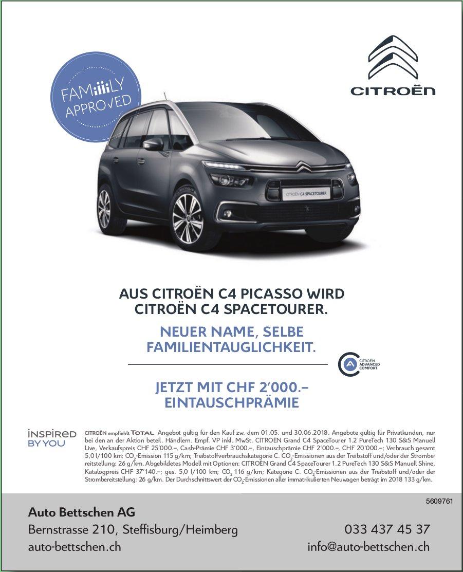 Auto Bettschen AG - Aus Citroën C4 Picasso wird Citroën C4 Spacetourer