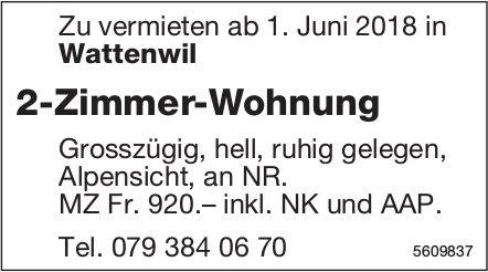 2-Zimmer-Wohnung in Wattenwil zu vermieten