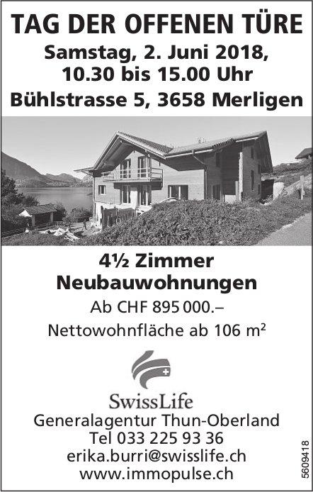 4½ Zimmer Neubauwohnungen in Merlingen zu verkaufen - Tag der offenen Türe am 2. Juni