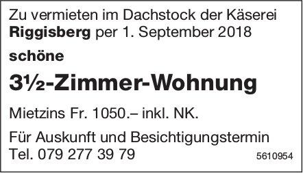 3½-Zimmer-Wohnung Zu vermieten im Dachstock der Käserei Riggisberg zu vermieten