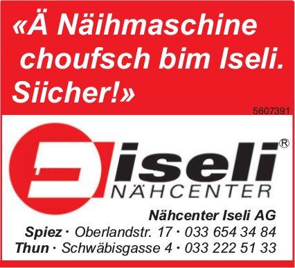 Nähcenter Iseli AG, Spiez / Thun - «Ä Näihmaschine choufsch bim Iseli. Siicher!»