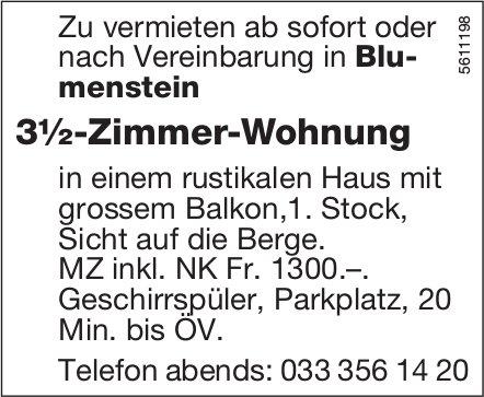 3½-Zimmer-Wohnung in Blumenstein zu vermieten