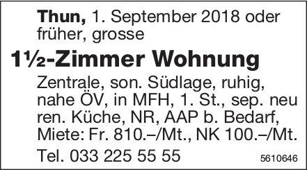 1½-Zimmer Wohnung in Thun zu vermieten