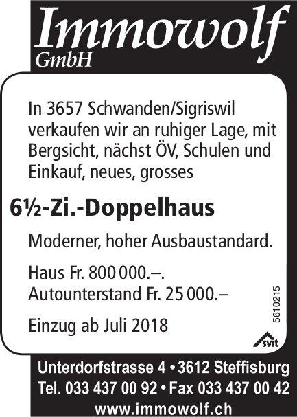6½-Zi.-Doppelhaus in Schwanden/Sigriswil zu verkaufen
