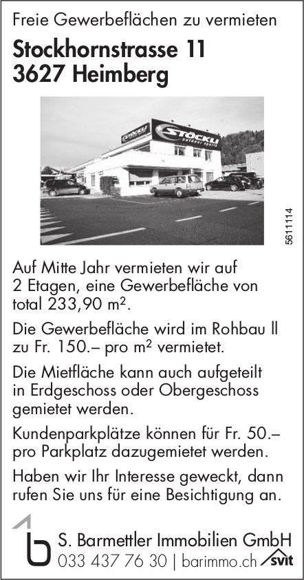 Freie Gewerbeflächen in Heimberg zu vermieten