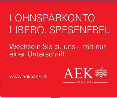 AEK Bank - Wechseln Sie zu uns, mit nur einer Unterschrift.