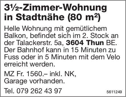 3½-Zimmer-Wohnung in Stadtnähe (80 m2) zu vermieten