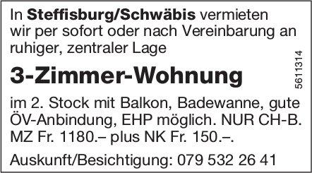 3-Zimmer-Wohnung in Steffisburg/Schwäbis zu vermieten