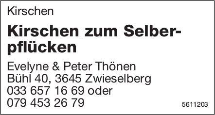 Kirschen zum Selberpflücken - Evelyne & Peter Thönen, Zwieselberg