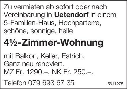 4½-Zimmer-Wohnung in Uetendorf zu vermieten