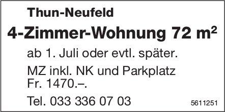 4-Zimmer-Wohnung 72 m2 in Thun-Neufeld zu vermieten