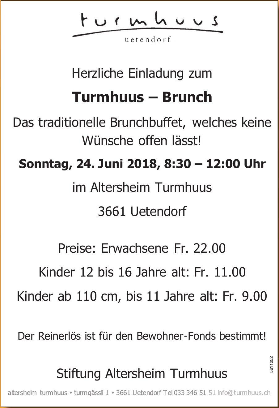 Stiftung Altersheim Turmhuus - Herzliche Einladung zum Turmhuus – Brunch am 24. Juni
