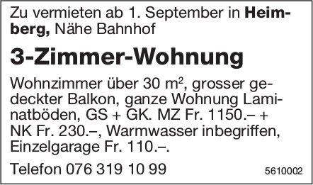 3-Zimmer-Wohnung in Heimberg zu vermieten