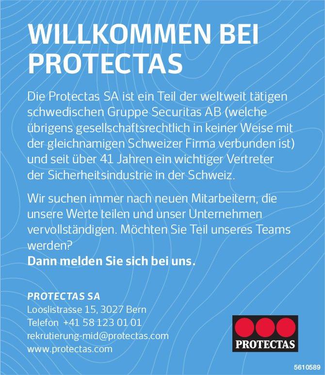 Mitarbeiter/innen, Protectas SA, Bern, gesucht
