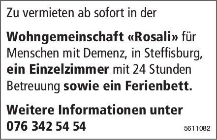 Wohngemeinschaft «Rosali» für Menschen mit Demenz, in Steffisburg ab sofort zu vermieten