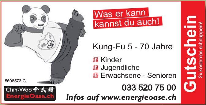 Chin-Woo EnergieOase - Kung-Fu 5 - 70 Jahre, Gutschein 2x kostenlos schnuppern!