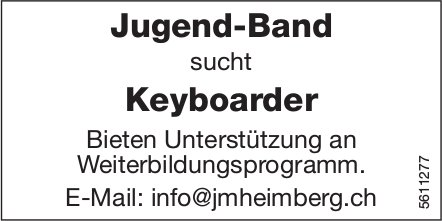 Jugend-Band sucht Keyboarder