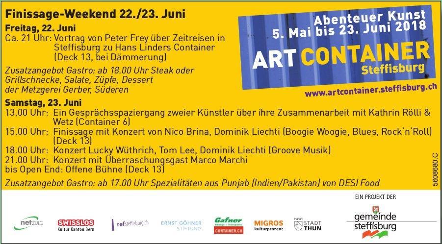 ART CONTAINER Steffisburg - Abenteuer Kunst bis 23. Juni / Finissage-Weekend 22./23. Juni