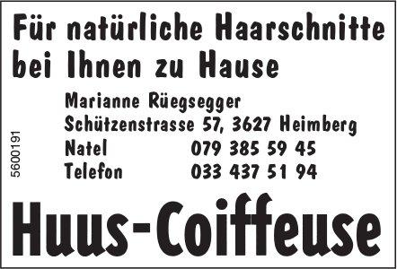 Huus-Coiffeuse, Heimberg - Für natürliche Haarschnitte bei Ihnen zu Hause
