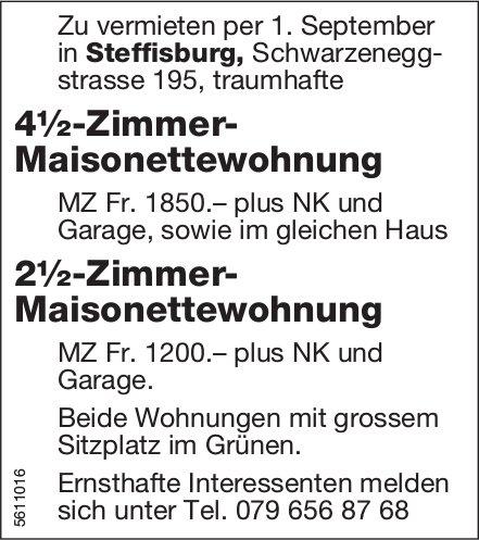 4½-Zi.- Maisonettewohnung sowie 2½-Zi.- Maisonettewohnung in Steffisburg zu vermieten