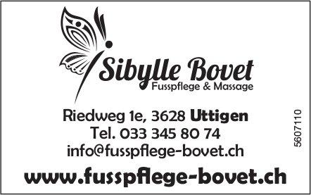 Sibylle Bovet Fusspflege & Massage, Uttigen