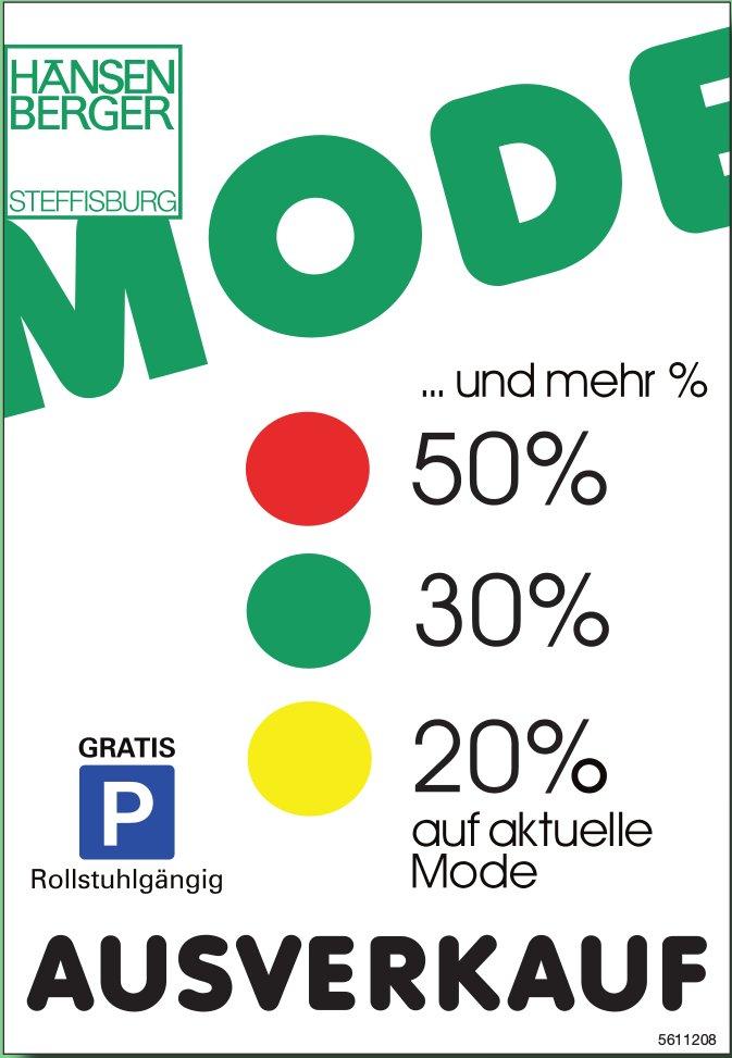 HÄNSEN BERGER STEFFISBURG - AUSVERKAUF: 20%, 30%, 50%... und mehr auf aktuelle Mode