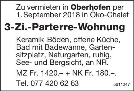 3-Zi.-Parterre-Wohnung in Oberhofen zu vermieten