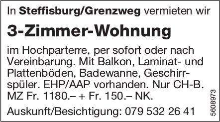 3-Zimmer-Wohnung in Steffisburg/Grenzweg zu vermieten