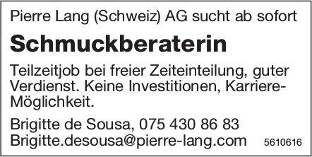 Schmuckberaterin bei Pierre Lang (Schweiz) AG ab sofort gesucht