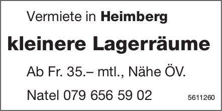 kleinere Lagerräume in Heimberg zu vermieten