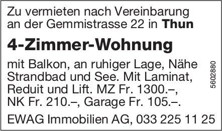 4-Zimmer-Wohnung in Thun zu vermieten