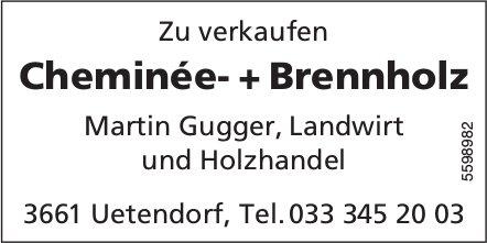 Cheminée- + Brennholz, zu verkaufen