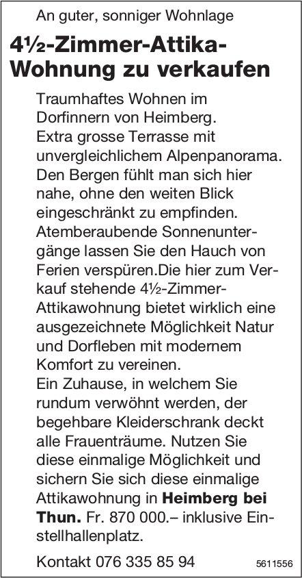 4½-Zimmer-Attika-Wohnung  in Heimberg zu verkaufen