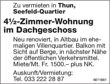 4½-Zimmer-Wohnung im Dachgeschoss in Thun zu vermieten