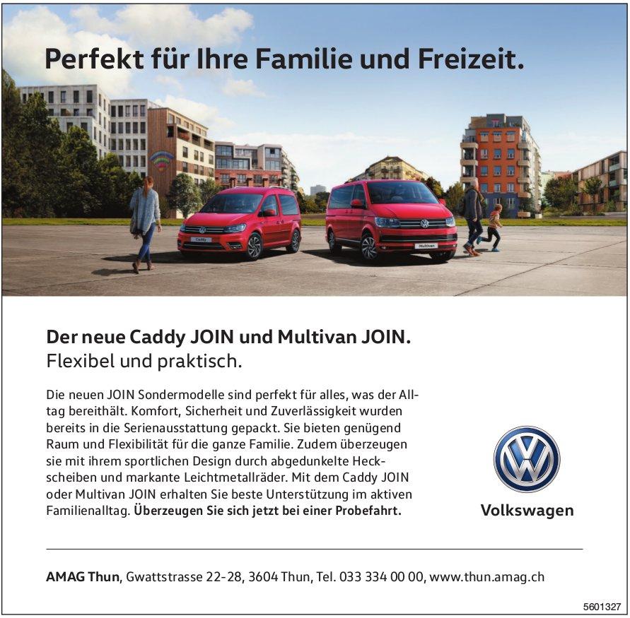 AMAG Thun - Der neue VW Caddy JOIN und Multivan JOIN.