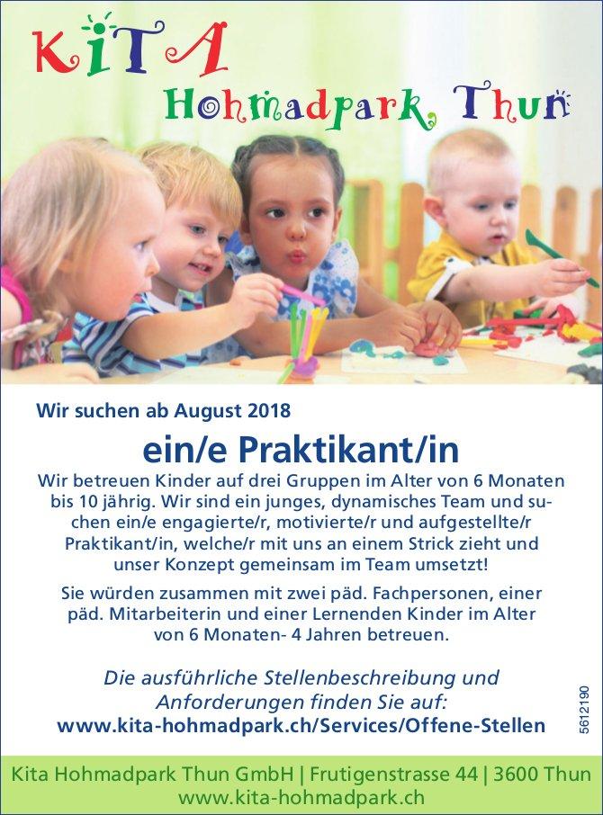 Praktikant/in, Kita Hohmadpark Thun GmbH, gesucht