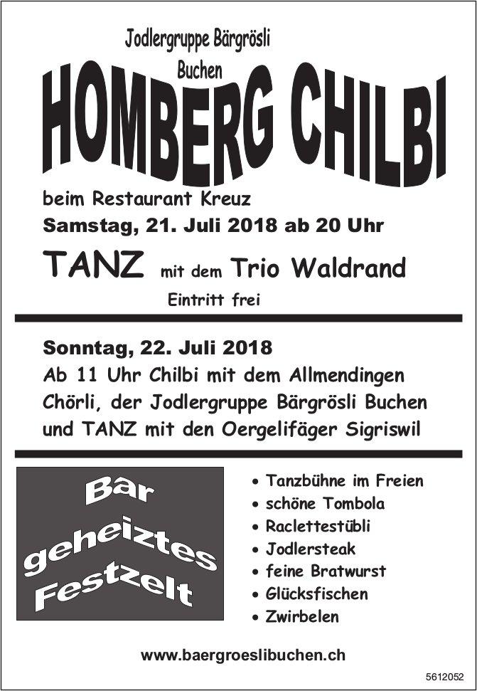 Jodlergruppe Bärgrösli - Homberg Chilbi beim Rest. Kreuz am 21./22. Juli